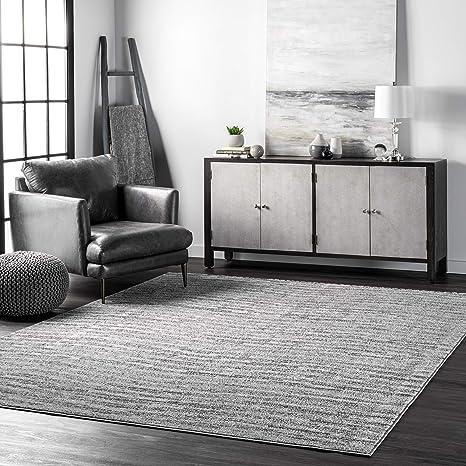 Amazon Com Nuloom Sherill Ripple Modern Abstract Living Room Or Bedroom Area Rug 10 X 14 Gray Furniture Decor