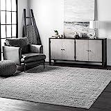 "nuLOOM Sherill Ripple Modern Abstract Living Room or Bedroom Area Rug, 7' 6"" x 9' 6"", Gray"