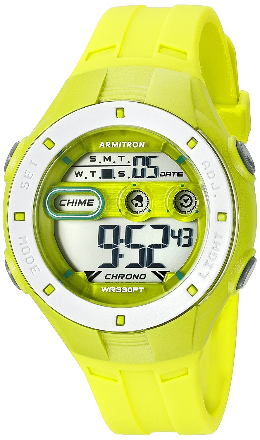 Armitron Sport Women s 45 7067LGN Digital Chronograph Lime Green Resin Strap Watch