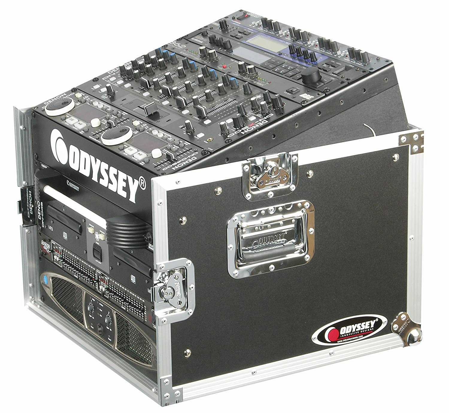 Odyssey FZ1006 Flight Zone Ata Combo Rack: 10u Slant, 6u Vertical Odyssey Innovative Designs