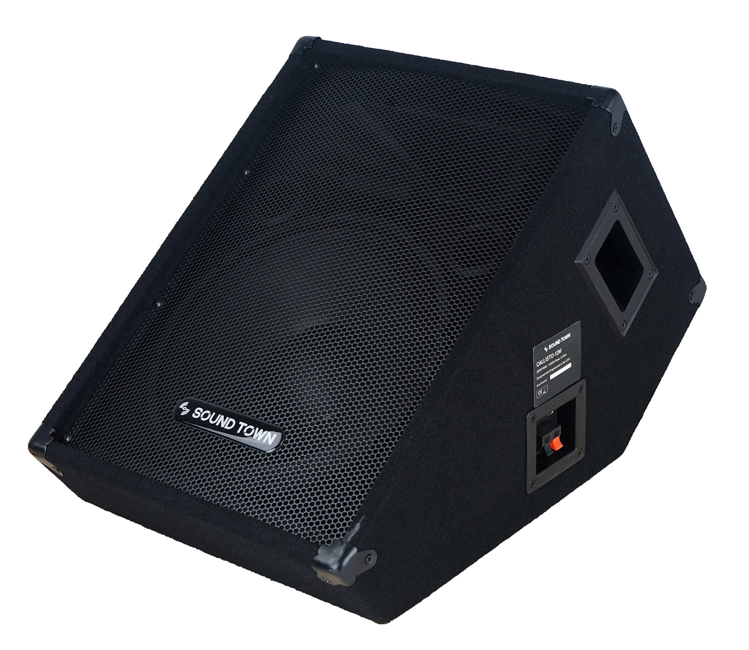 Sound Town CALLISTO Series 12'' Passive Stage Monitor Speaker (CALLISTO-12M) by Sound Town