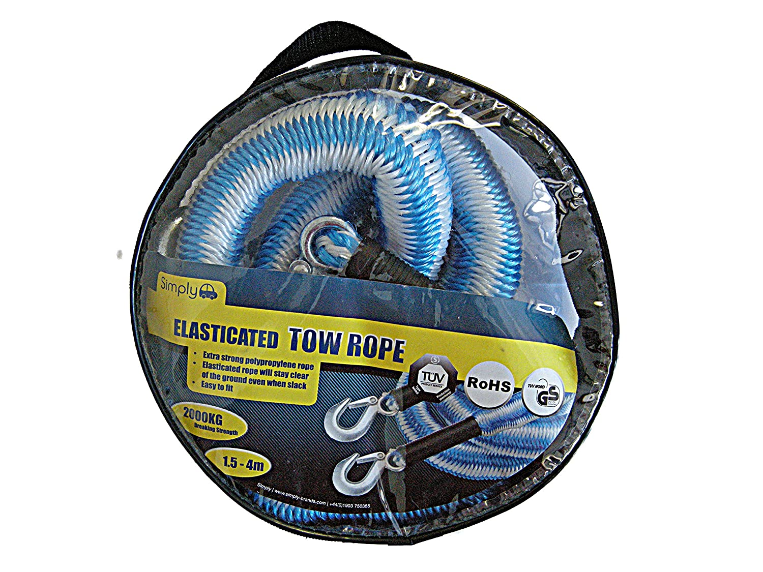 Simply TRE2000 Elasticated Tow Rope