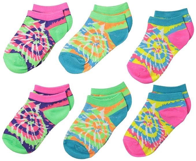 Amazon.com: jefferies socks para bebé niña 6 par paquete Tie ...