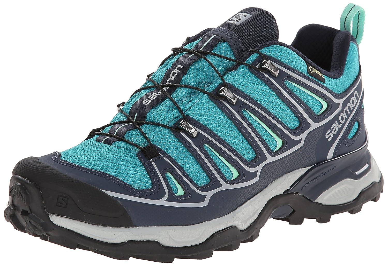 Salomon Women's X Ultra 2 GTX Hiking Shoe B00KWK7WUE 8.5 B(M) US|Peacock Blue/Deep Blue/Lucite Green