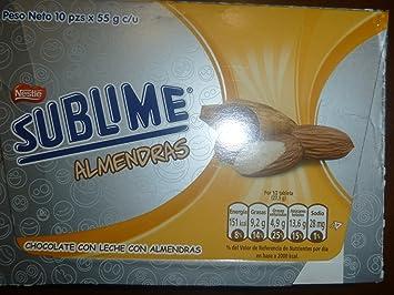 Sublime Cholcolate Con Leche Con Almendras
