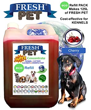 FRESH PET - Recipiente eco-recambio 5L (hace hasta 125 L) recipiente super concentrado limpiador desinfectante de caseta ...: Amazon.es: Productos para ...