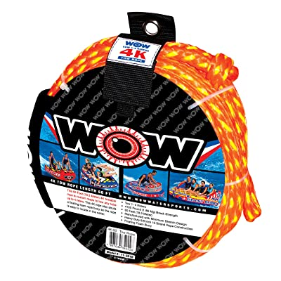 WOW 4K 60\' Tow Rope: Sports & Outdoors [5Bkhe0808635]