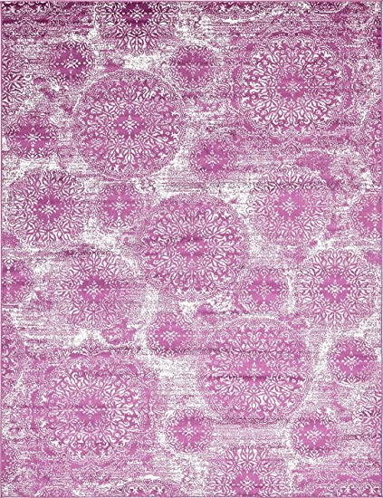 Amazon.com: Modern Vintage Inspired Overdyed Area Rugs Purple 9\' x ...