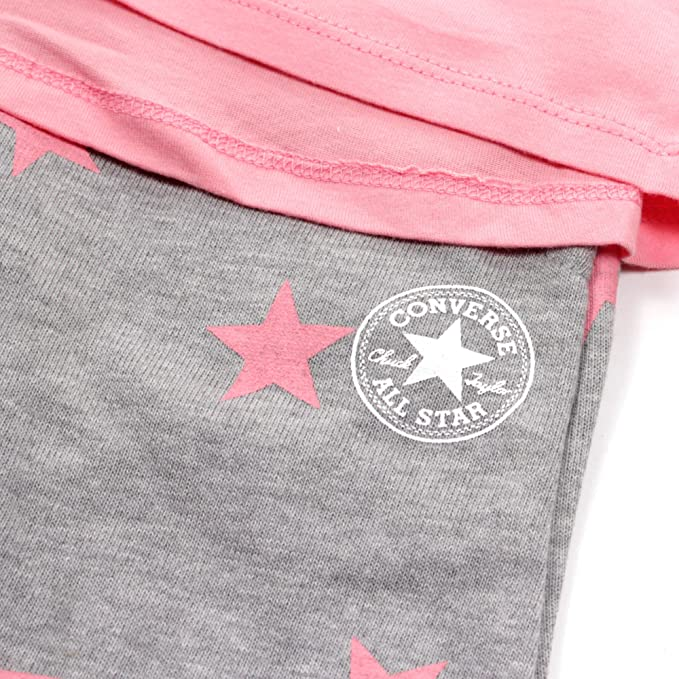 40d6070994b4 Converse All Star Infant Jogger   Tunic Set Pink Grey - 3-6 Months   Amazon.co.uk  Clothing