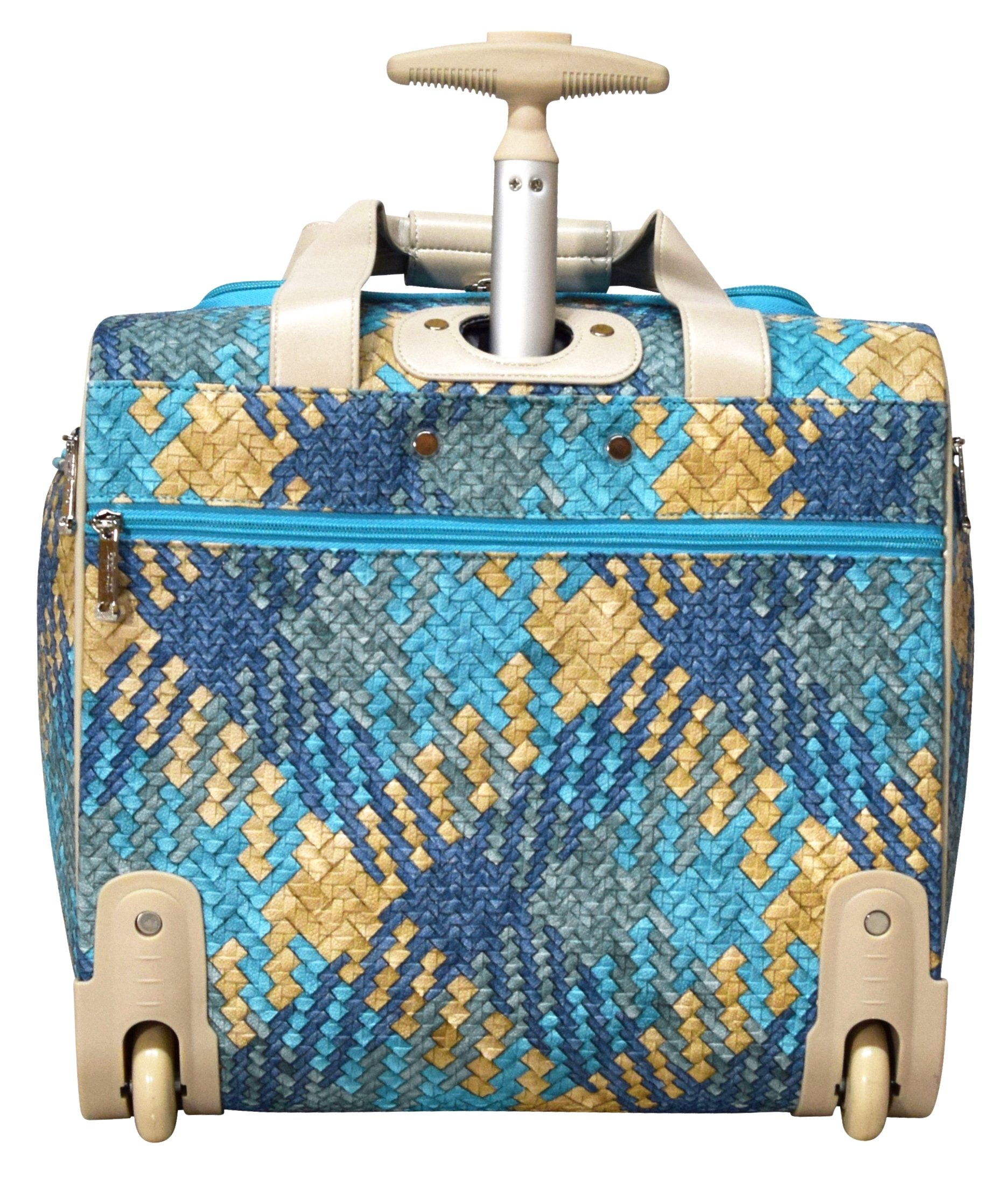 Nicole Miller Taylor Collection 15'' Under Seat Bag (Woven Teal) by Nicole Miller (Image #5)
