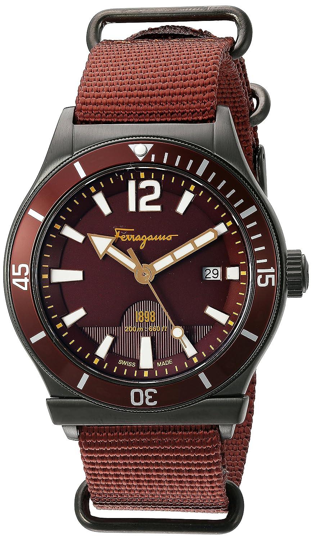 Salvatore Ferragamo Herren ff3220015 FERRAGAMO 1898 Sport Analog Armbanduhr Display Rost Quarz