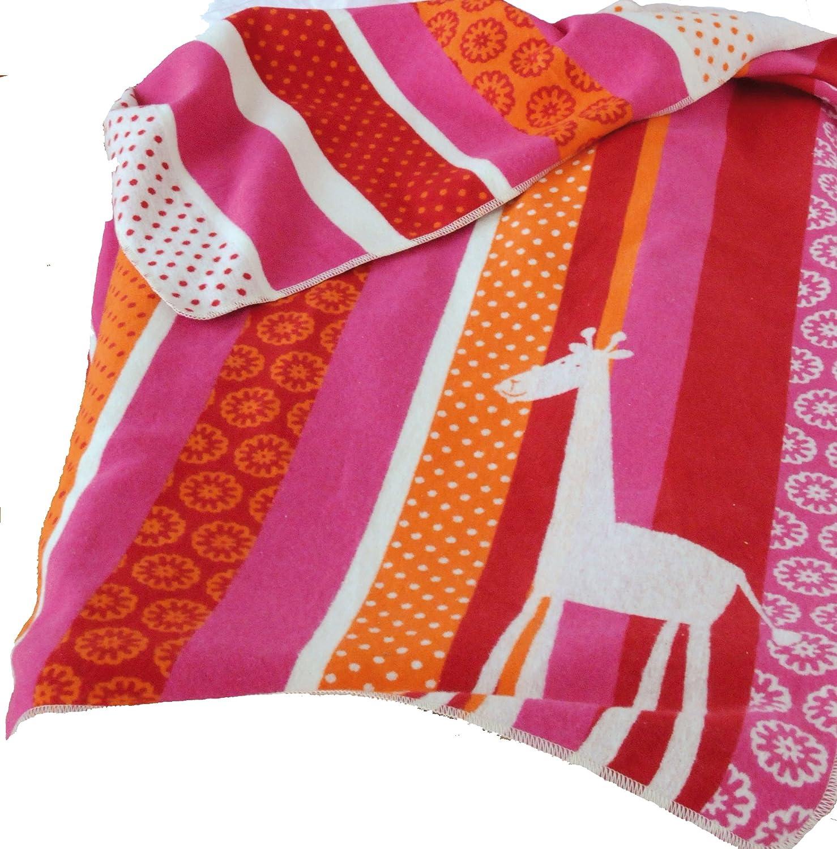 Babydecke juwel Giraffe orange// pink 70 x 90 cm David Fussenegger 6134//13