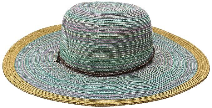 93bb481c San Diego Hat Company Women's 4-inch Mixed Braid Sun Brim Hat with Adjustable  Chin