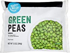 Amazon Brand - Happy Belly Green Peas, 12 Ounce (Frozen)