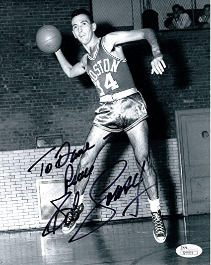 Image Unavailable. Image not available for. Color  Autographed Cousy ... 696f13f67