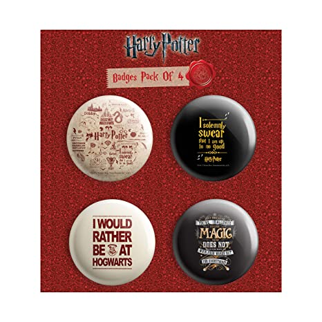 Buy MC SID RAZZ Harry Potter Combo Pack Of 4 Round Badges