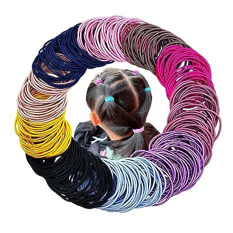 Mulitcolor 100 Pieces Hair Elastics Hair Ties Ponytail Holders Hair Bands Bulk
