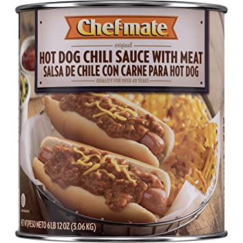 Chef-mate Hot Dogs Chili, Ready to Eat Chili Sauce, 0 Grams Trans