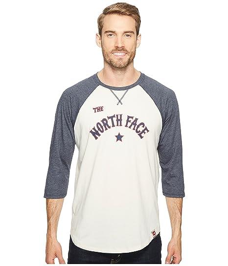 2f19309c1c93 The North Face Men's Americana Baseball 3/4 Tee Vintage White Heather/Urban  Navy