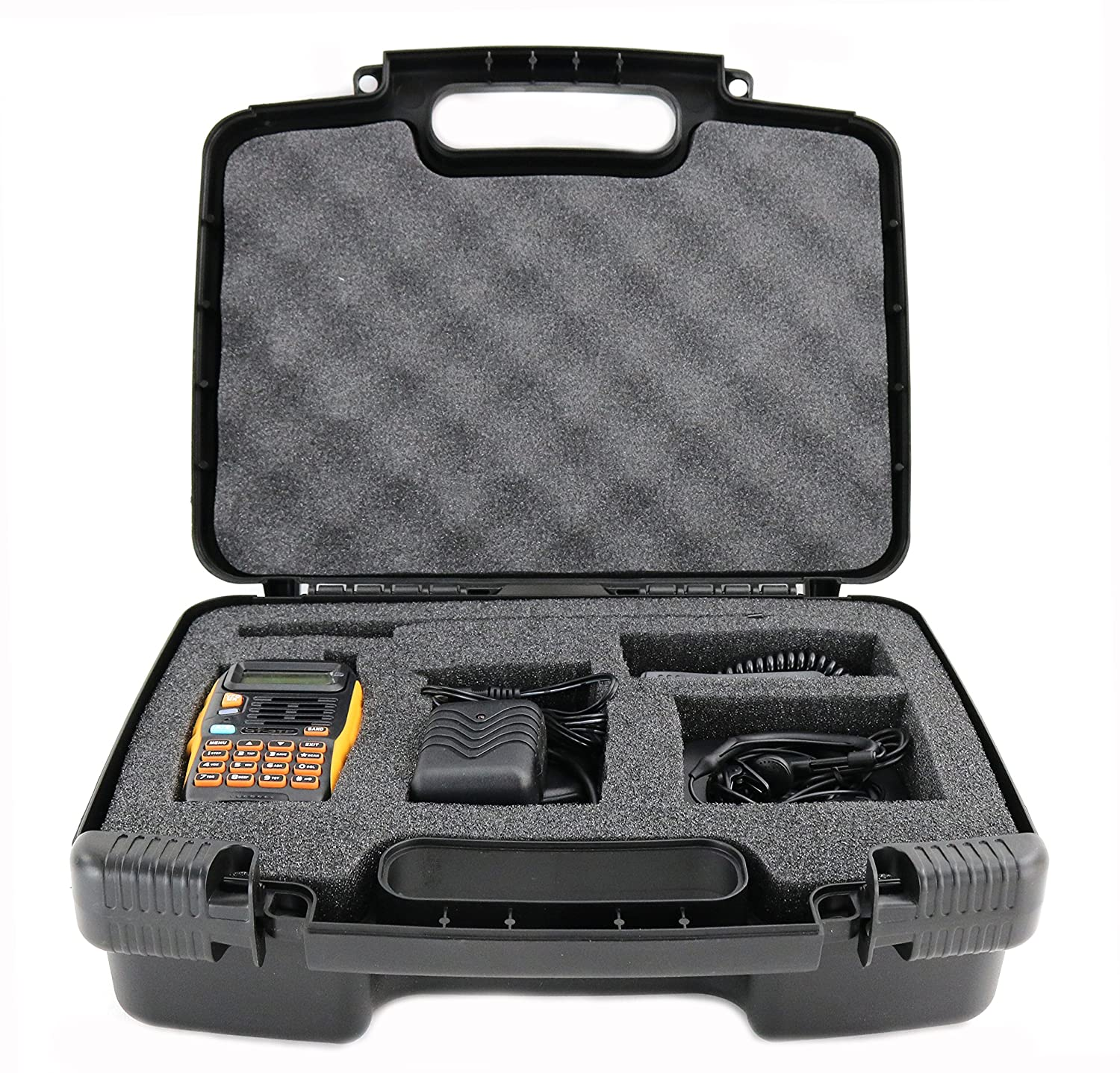 Life Made Better Storage Organizer - Compatible with Baofeng Radio GT-3TP Mark-III Two-Way Radio Transceiver - Durable Carrying Case - Black LMB3