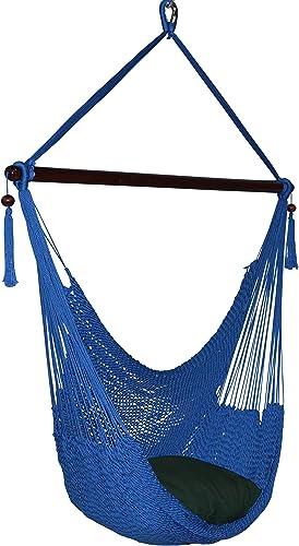 Caribbean Hammocks Large Chair – 48 Inch – Polyester – Hanging Chair – Dark Blue
