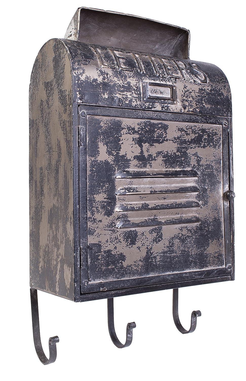 ヴィンテージフランススタイルブラックAged Letter Signメタルポストメールボックスフック – 21