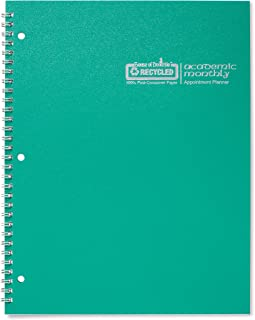 product image for House of Doolittle 2017-2018, Planner, Academic, Bright Green, 8.5 x 11 Inches, July - August (HOD26309-18)