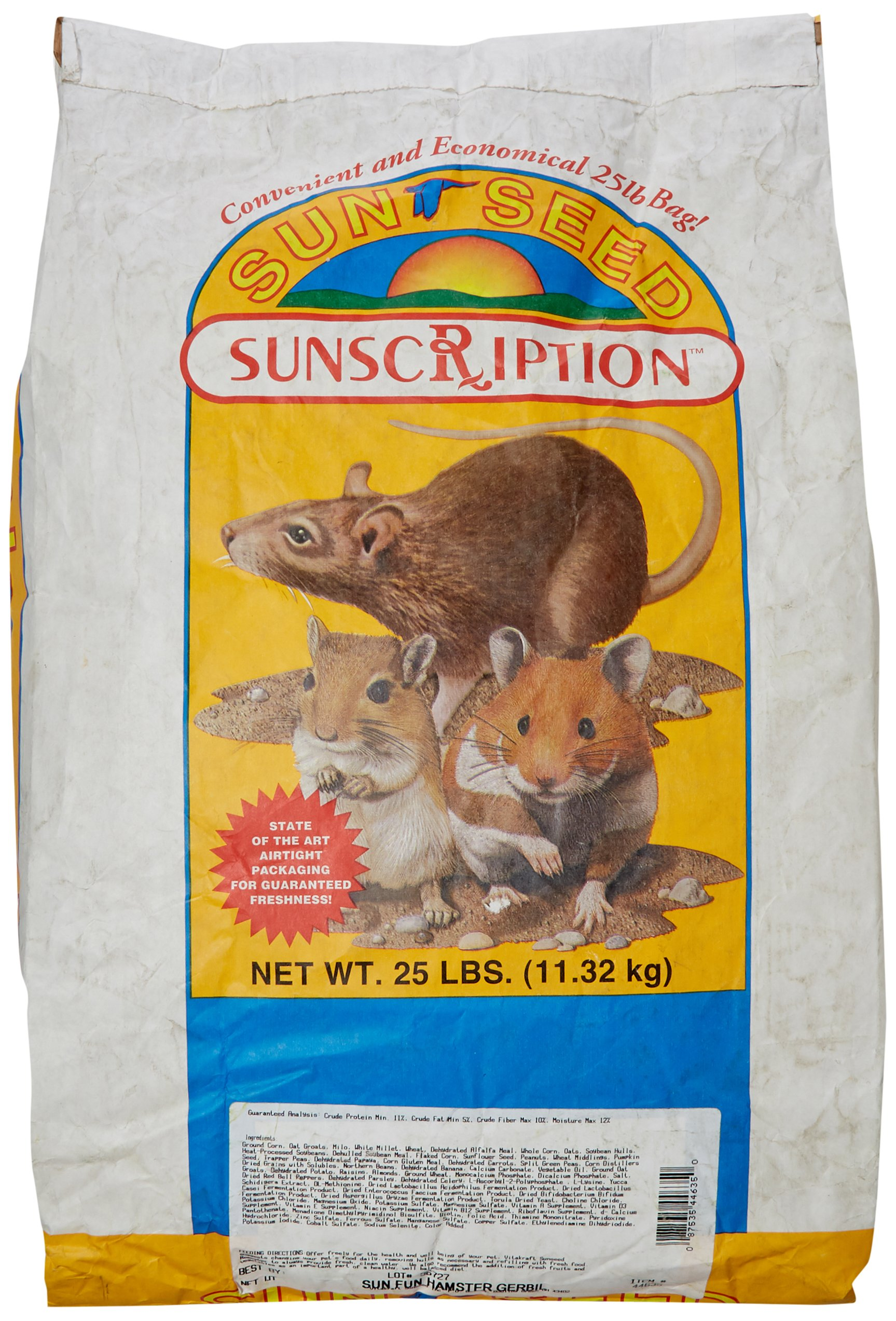 Sun Seed Company Sss44635 Sun Fun Daily Diet Hamster/Gerbil Food, 25-Pound