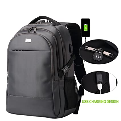 f93f595b10f2 Image Unavailable. Image not available for. Color  BISON DENIM Anti Theft  Backpack College Backpack 15.6 Inch Travel Laptop ...