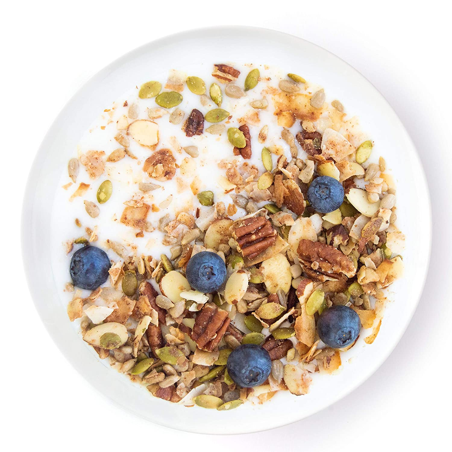 Keto Blueberry Nut Granola Healthy Breakfast