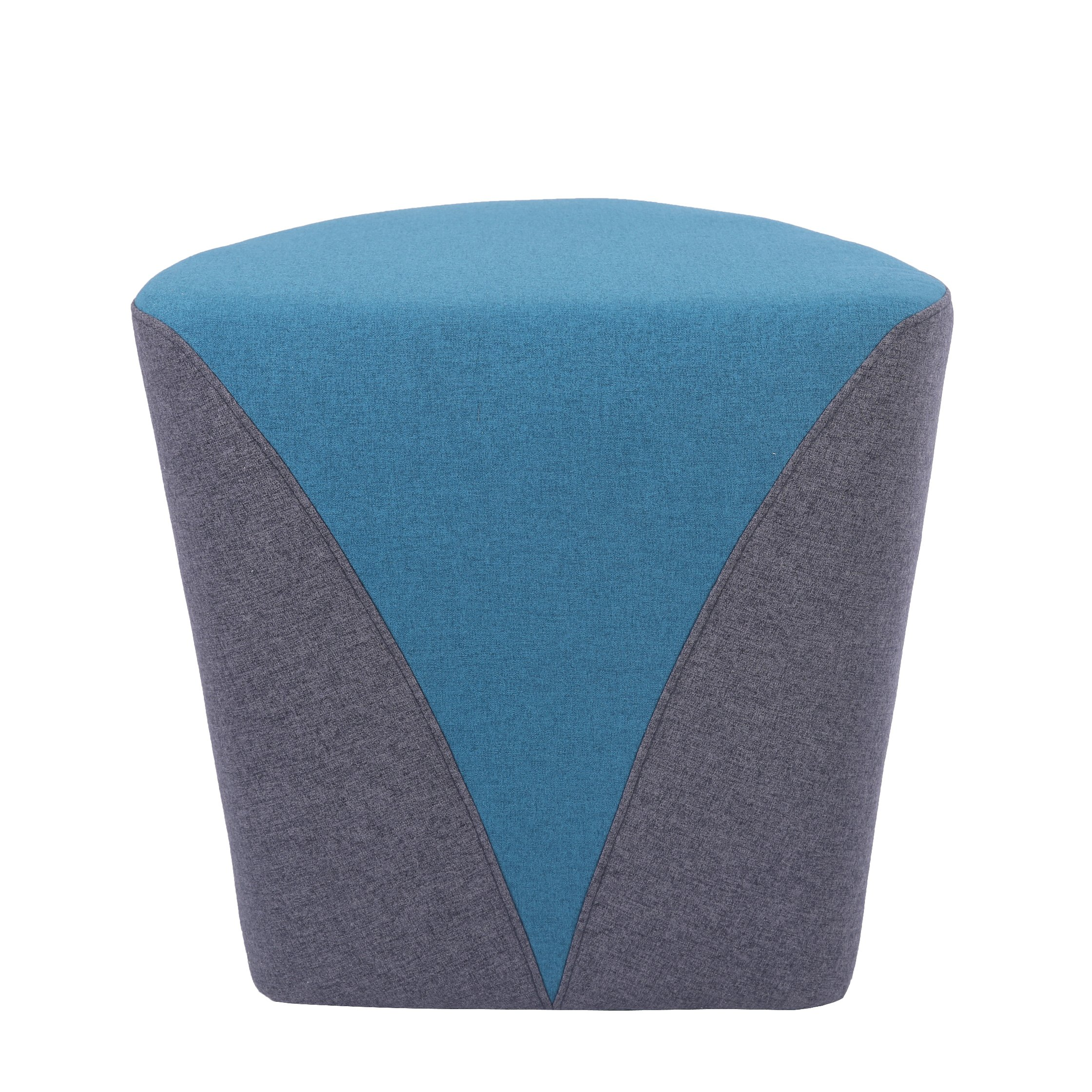Sunon Heart Upholstered Tufted Puff Ottoman Pouf,18.1''L17.7''W17''H,Fabric Vanity Stool(Light Blue) by Sunon