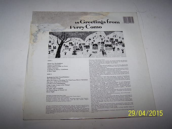Christmas greetings from perry como vinyl amazon music m4hsunfo