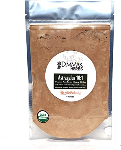 Organic Astragalus 10 1 Extract Powder 4oz Huang Qi 10 1 Concentrate Granules Lab Tested, USDA Organic, No Other Ingredients w Amazing Taste Astragalus by Dimmak Herbs