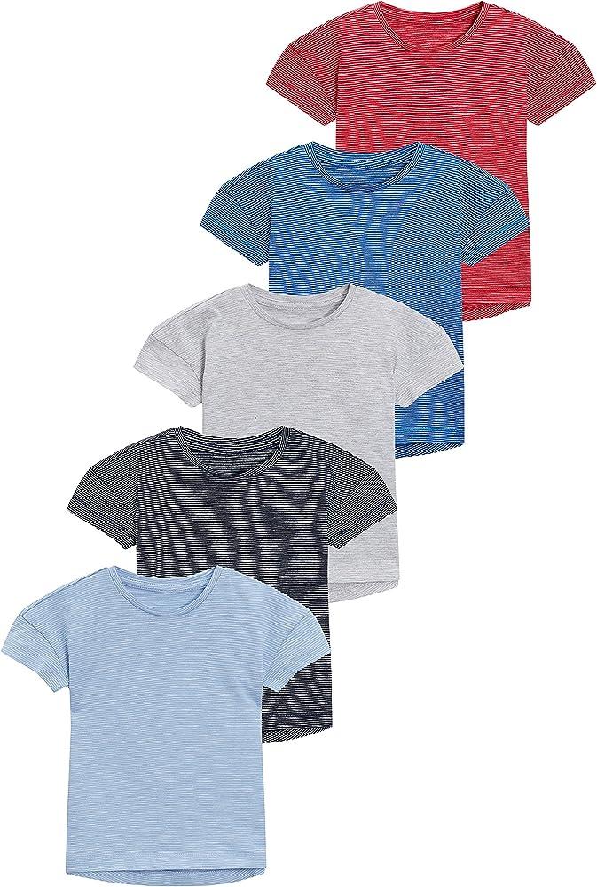 next Niños Pack De Cinco Camisetas De Manga Corta con Rayas Wizzy (3 Meses - 6 Años) Azul/Azul Marino/Gris/Rojo/Cobalto 5-6 años: Amazon.es: Ropa y accesorios