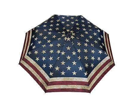 Paraguas plegable automático de la bandera de EE. UU. Vintage Stick paraguas