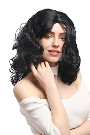 WIG ME UP ® - XR-010-P103 Peluca Carnaval señoras Largos rizos voluminosos