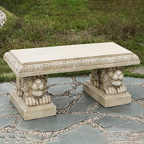 Overstock 39in. MgO Lion Decorative Garden Bench