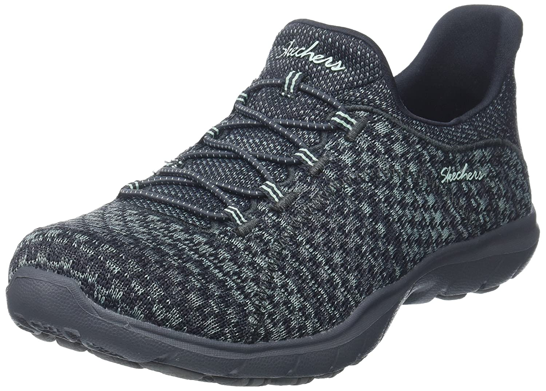 Skechers Women's Dreamstep-Enliven Fashion Sneaker B01N8T2WO2 9 B(M) US|Charcoal/Grey