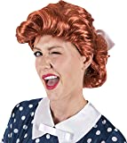 Kangaroo's 50's Housewife Red Wig For Costume