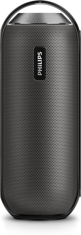Philips BT6000B/12 - Altavoz portátil con Bluetooth (2 x 6 W, NFC, micrófono), color negro