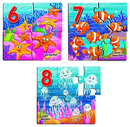 Creative's Early Puzzles Step II, Numbers 6 to 10, Multi Color