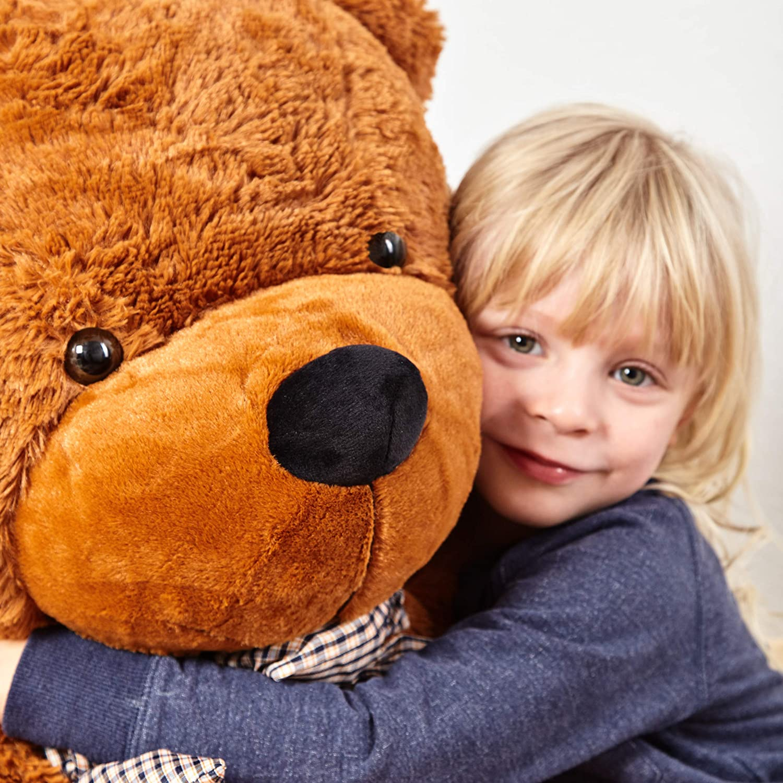 Lumaland Fortuna XXL oso de peluche Marrón 120 cm Peluche Oso de peluche: Amazon.es: Juguetes y juegos