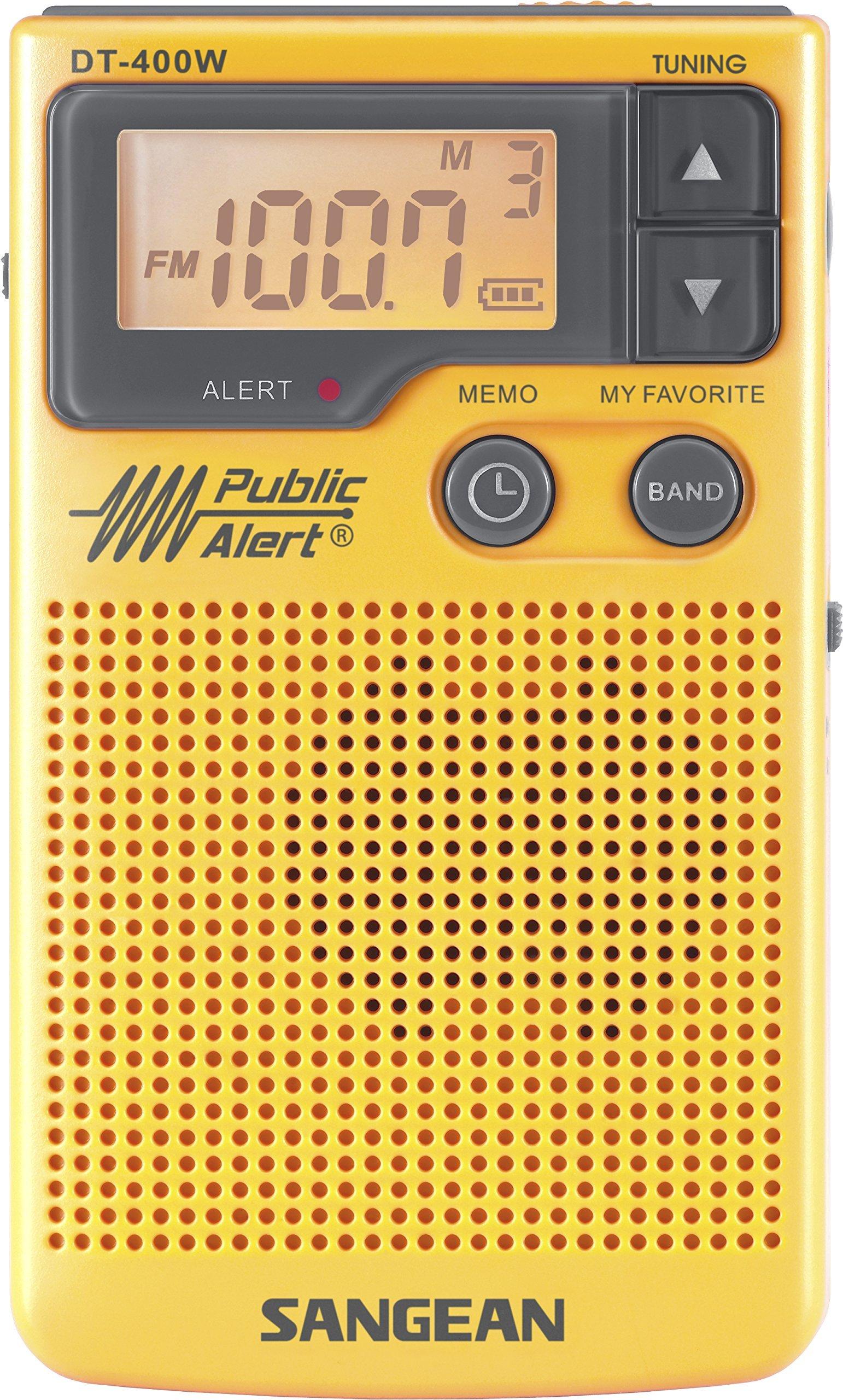 Sangean DT-400W AM/FM Digital Weather Alert Pocket Radio (Renewed)