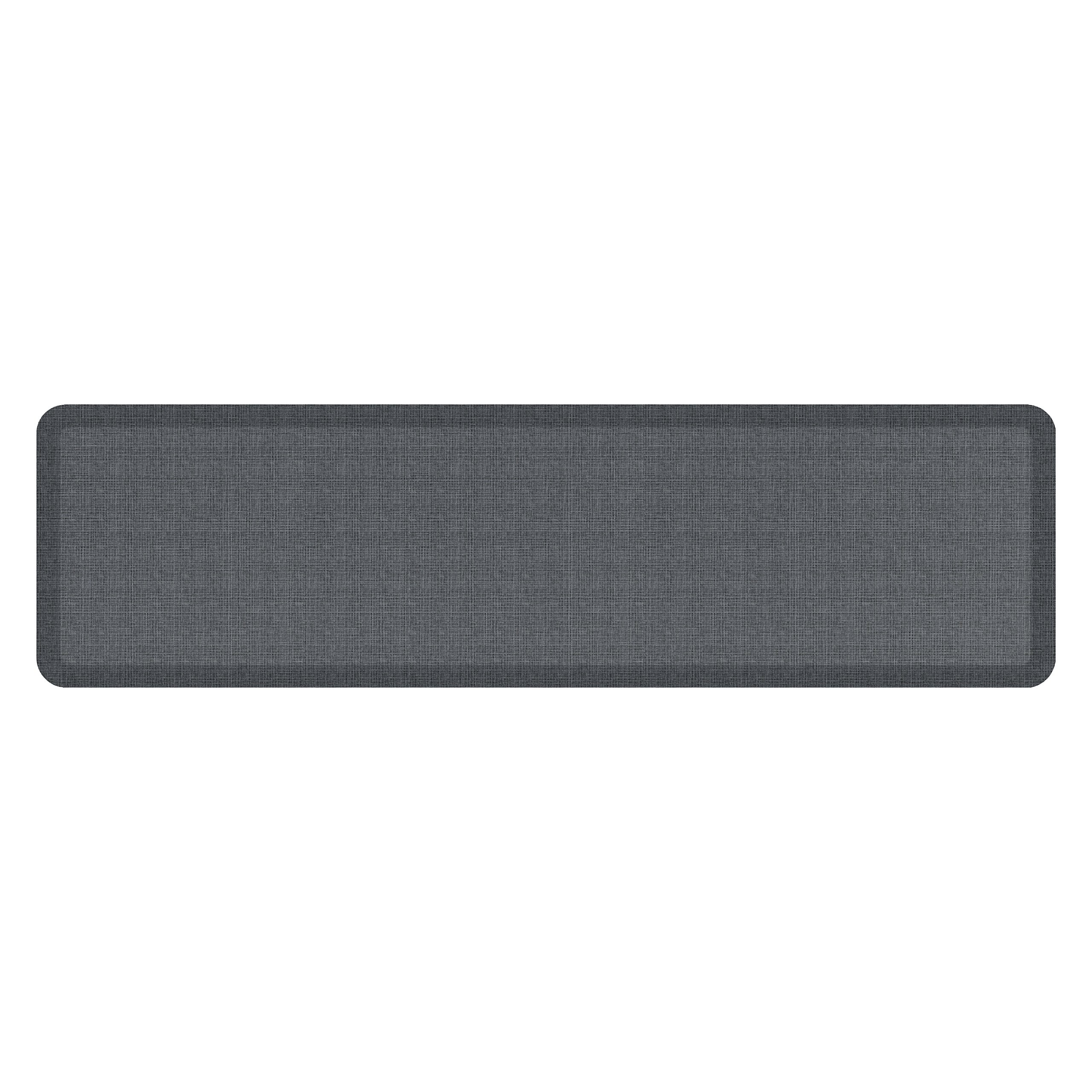 "NewLife by GelPro Anti-Fatigue Designer Comfort Kitchen Floor Mat, 20x72'', Tweed Nickel Grey Stain Resistant Surface with 3/4"" Thick Ergo-foam Core for Health and Wellness"