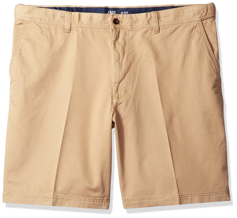 IZOD Mens Big and Tall Saltwater 10.5 Flat Front Chino Short