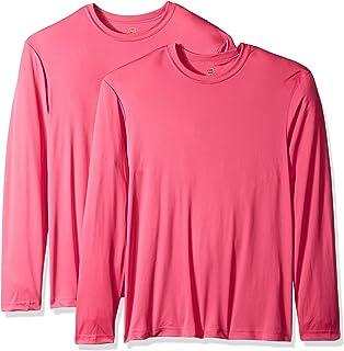 Hanes Men s Long Sleeve Cool Dri T-Shirt UPF 50+ (Pack of 2 89a83cdd7