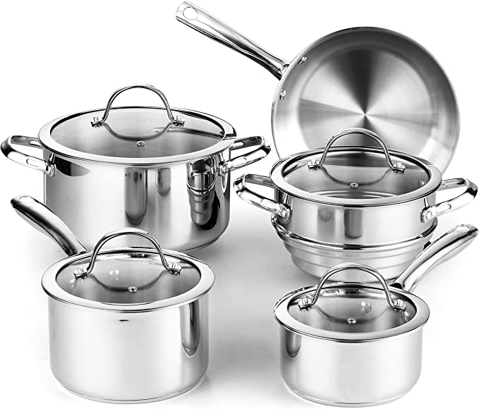 Infusion Collection Set of 3 Stainless Steel Chafing Inserts For 3qt Casserole