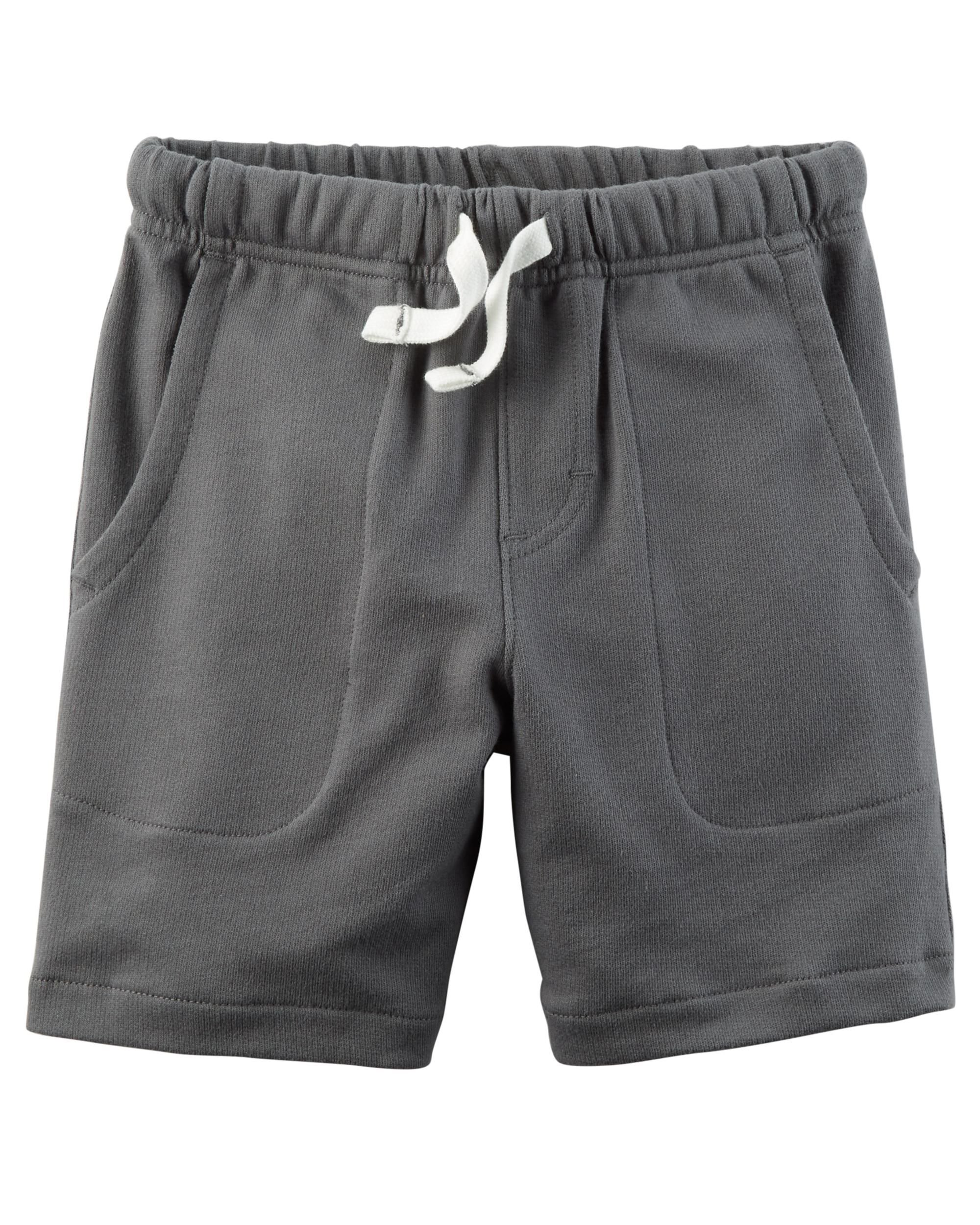 Carter's Set of 2 Boy's Cotton Pull On Shorts Toddler Little and Big Boys (5T, Dark Grey and Navy Blue) by Carter's Baby Clothing (Image #4)