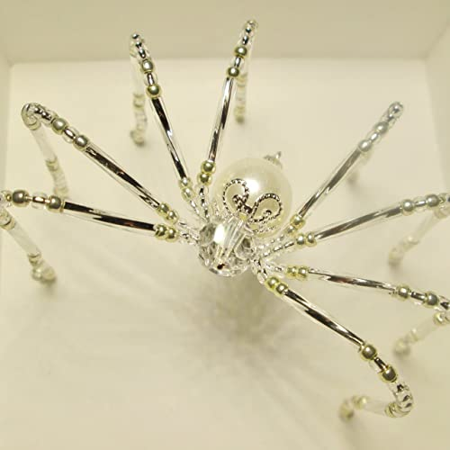 beaded christmas spider ornament sun catcher the bride - The Christmas Spider