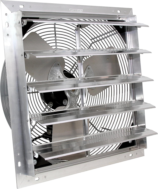 VES 24-inch Exhaust Shutter Fan, Wall Mount, 3 Speed